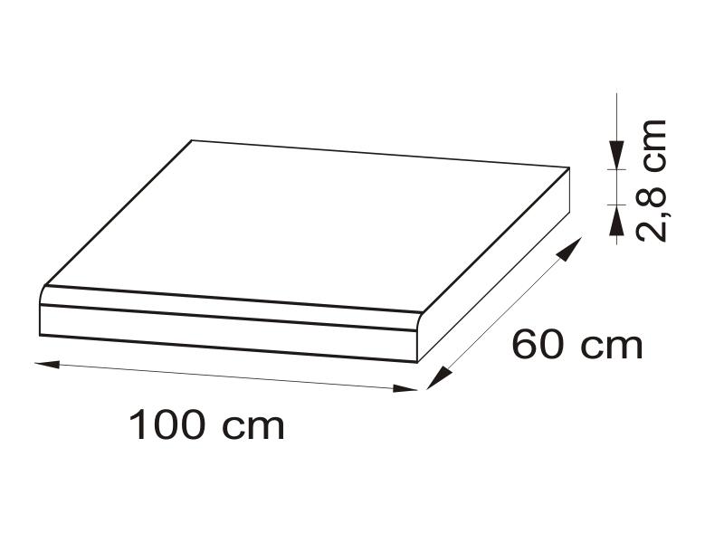 Pracovná doska 100 cm - BRW - Nika - BLAT/100